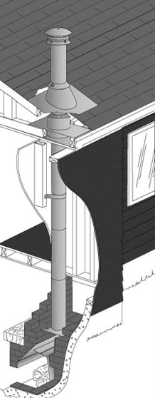 S2100 - Installation on a masonry fireplace